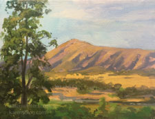 Paradise Road Santa Ynez valley oil painting