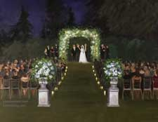 Paramour Estate Night wedding