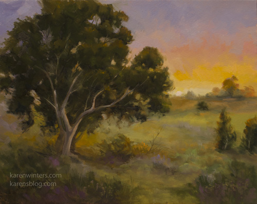 Remembering the Light California Central Coast eucalyptus oil painting