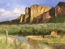 Salt River, Arizona 6 x 8 inch oil painting plein air style