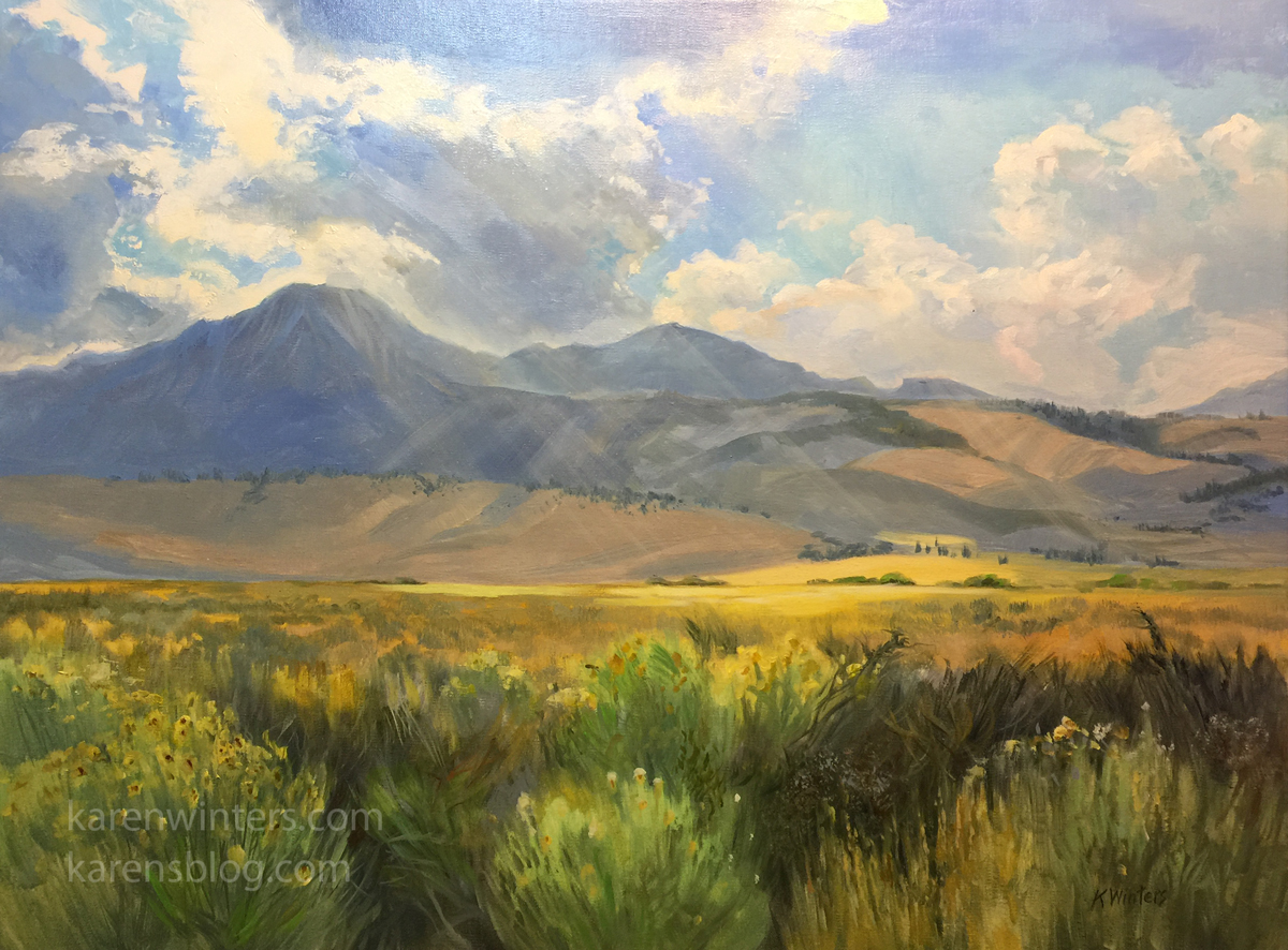 6910d19a1 18 x 24 oil painting on canvas. Early autumn on the June Lake Loop, Highway  395, Eastern Sierra Available for purchase