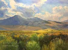Sierra September June Lake Loop sunset oil painting