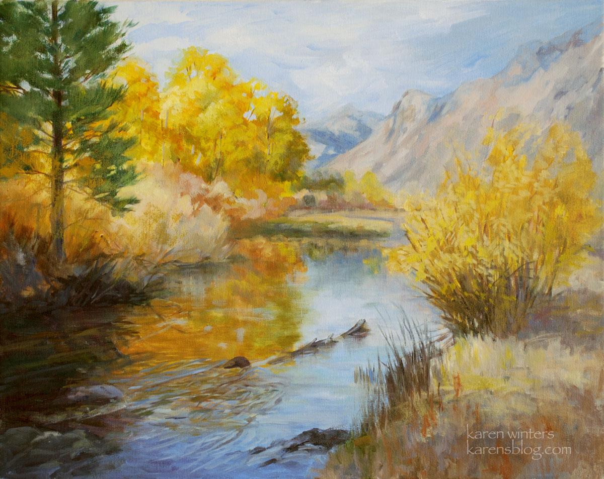 Sierra creek california landscape oil painting june for Oil painting scenery