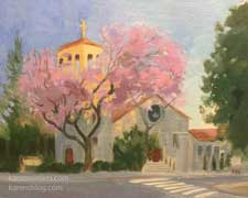 Sierra Madre Congregational Church painting