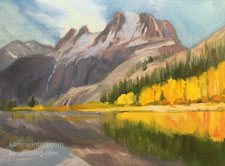 Silver Lake Sierra miniature oil painting