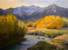 Snowcreek at Mammoth 12 x 16 inch oil painting