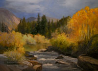South Fork Bishop Creek oil painting