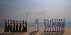 St Malo wedding painting