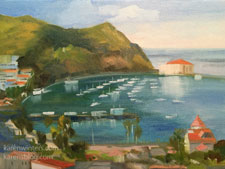 Sunny Avalon Catalina oil painting