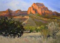 Trail to Bear Mountain Sedona Arizona plein air oil painting