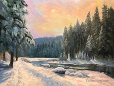 Truckee Tranquility Truckee River painting