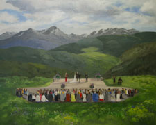 Vail Mountain Colorado Live Event Wedding Painting in July