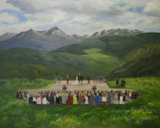 Vail wedding Gore Range Colorado Live Event painting