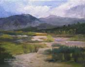 Western Watershed Arroyo Seco San Gabriel Mountains 8 x 10 oil painting by Karen Winters California landscape artist