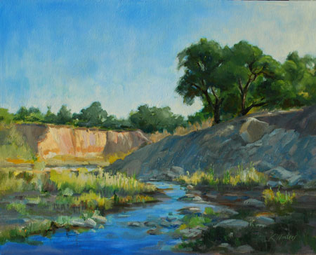 Sespe Creek Ventura County - Where the Sespe Flows - Sespe Landscape Oil Painting