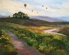 Vineyard Dawn Temecula with Balloon Flight