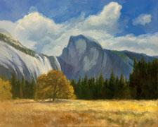 cottonwoods sierra in bishop california oil painting