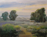 Morro Bay, Montana de Oro, Los Osos, Walk to the Dunes Plein Air Oil Painting Morro Bay art by Karen Winters