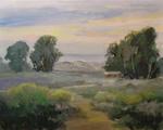 Morro Bay, Montana de Oro, Los Osos, Walk to the Dunes Plein Air Oil Painting Morro Bay art by Karen Winters