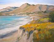 Ah Avila Beach Oil Painting SLO Central Coast California oil painting by California impressionist seascape painter Karen Winters - including Shell Beach