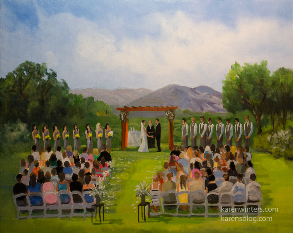 Low Light Conditions Aliso Viejo Country Club Live Event Wedding Painting