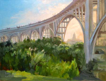 Colorado Street Bridge Suicide Bridge oil painting