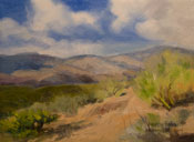 Arizona Desert Hills oil painting