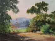 arroyo seco vista south pasadena california landscape oil painting
