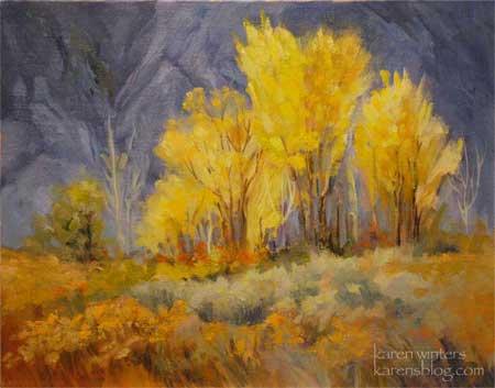 Aspen Landscape Oil Painting Aspen Grove
