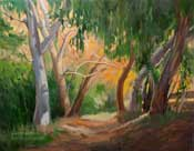 Autumn Trail California landscape oil painting