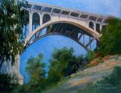 Below the Arch Colorado Street Bridge oil painting