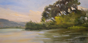 Laguna Lake San Luis Obispo County oil painting by Karen Winters