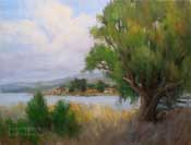 By the Bay Sweet Springs Baywood Los Osos plein air oil painting by karen Winters