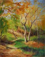 California autumn sycamore original oil painting by Karen Winters California impressionist
