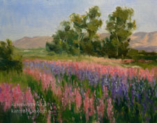 California Flower Fields Painting