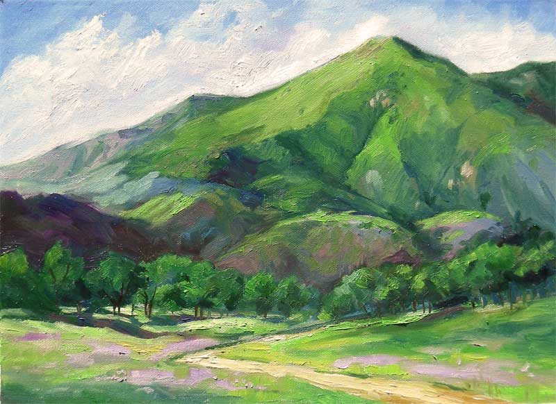 california mountain impressionist landscape oil painting