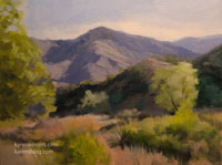 Canyon Harmony Eaton Canyon oil painting