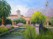 Capistrano Mission Fountain Painting by Karen Winters
