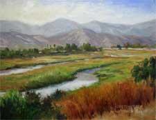 Carpinteria Estuary Oil Painting