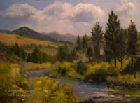 Carson River, Early Autumn oil painting