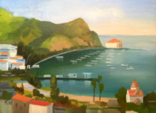 Catalina Sunny Day Avalon oil painting 6 x 8 inches