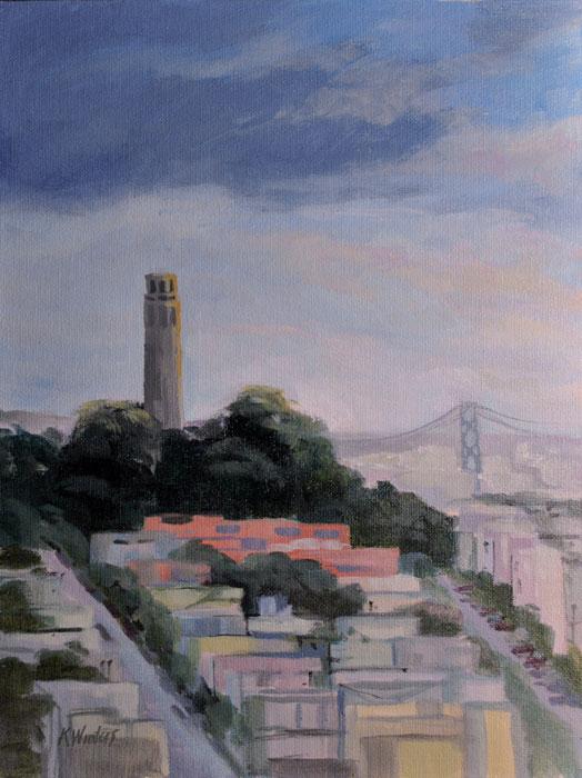 san francisco paintings by karen winters  bay area oil