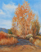 cottonwoods sierra in bishop california oil painting