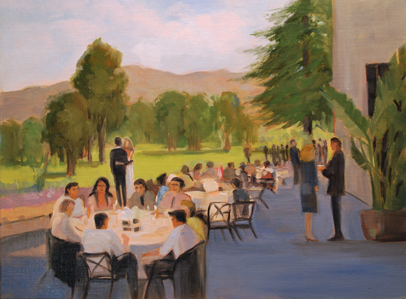 Live Event Painting Glendale Country Club Wedding Reception