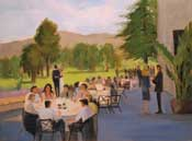 Glendale country club wedding reception live event painting