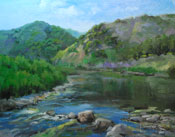 Creekside in Malibu - Malibu Creek State Park painting