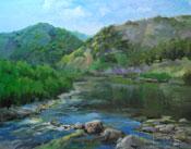 Creekside in Malibu - Malibu Creek State Park painting