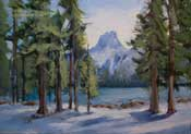 Crystal Crag Lake Mary Mammoth oil painting