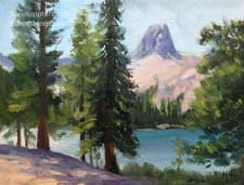 Crystal Crag Mammoth miniature oil painting Mammoth Lakes