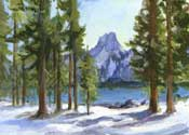 Crystal Crag Acrylic Painting, Mammoth Lakes, California, High Sierra Oil Painting
